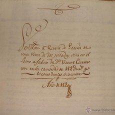 Manuscrits anciens: 1820. ANIÑON. COMARCA CALATAYUD. VENTA DE UNA VIÑA DE DOS JUBADAS. SELLO SEGUNDO.. Lote 40784267
