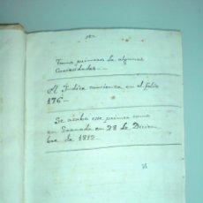 Manuscritos antiguos: MANUSCRITO. GRANADA (MONTEFRIO, ALFACAR, BIZNAR, PIÑAR, QUENTAR, DUDAR, COGOLLOS Y ORGIBA). Lote 40786880