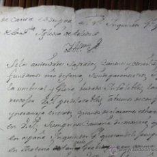 Manuscritos antiguos: CARTA AL INQUISIDOR GENERAL POR EL CABILDO DE TOLEDO. Lote 41031520