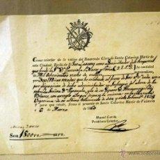 Manuscritos antiguos: RECIBO, LIMOSNAS POR MISAS, 1800 REALES, SANTA CATARINA MARTIR DE VALENCIA, 1860, 16 X 22 CM. Lote 41126229