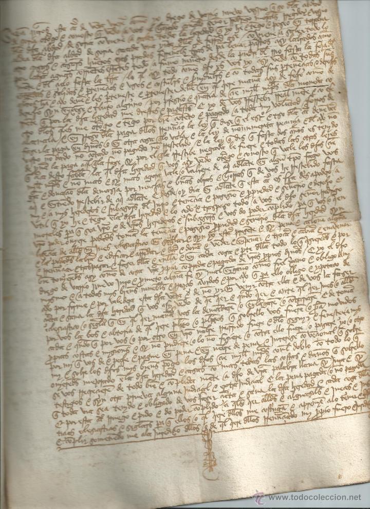 MANUSCRITO. TORRALBA (SORIA) 1489. MUY BUEN ESTADO. DIEGO DE VARRIONUEBO (BARRIONUEVO) (Coleccionismo - Documentos - Manuscritos)