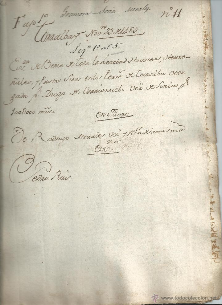 Manuscritos antiguos: MANUSCRITO. TORRALBA (SORIA) 1489. MUY BUEN ESTADO. DIEGO DE VARRIONUEBO (BARRIONUEVO) - Foto 2 - 41271375