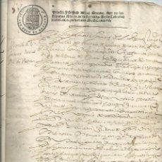 Manuscritos antiguos: PAPEL TIMBRADO. SELLO 3º 1637. PRIMER AÑO EN TIMBROLOGÍA. MANUSCRITO TOLEDO GENEALOGÍA. Lote 41290810