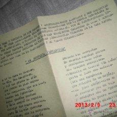Manuscritos antiguos: OBRA ORIGINAL DE M MAC MAHON MECANOSCRITO Y MANUSCRITO EN MARGEN. Lote 41482761