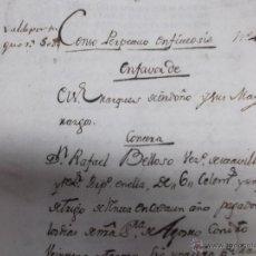 Manuscritos antiguos: MANUSCRITO 1798 CENSO PERPETUO ENFITEUSIS EN FAVOR DEL MARQUES DE ORDOÑO MEDINA DEL CAMPO. Lote 41711943