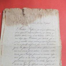 Manuscritos antiguos: MANUSCRITO POBLEZA J LÓPEZ A GUERRERO MOLINA .GRANADA 1854. Lote 42189307