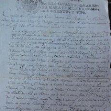 Manuscritos antiguos: BUITRAGO BAUTISMO DEL CONDE DE PINEDA LIBERAL CONOCIDO. Lote 42246663