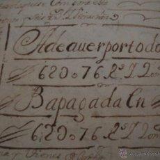 Manuscritos antiguos: MANUCRITO TESTIMONIO.INVENTARIO DE LA FAMILIA CASTELLANOS 1704-37PAG AMBAS CARAS. Lote 138913584