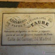 Manuscritos antiguos: BONITA LIBRETA MANUSCRITA CUENTAS PAPEL DE ALMACEN DE PAPEL TAURE SELLO 4º AÑO 1842. Lote 42381949