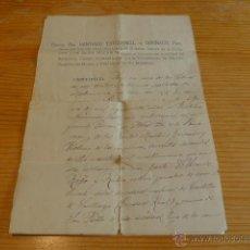 Manuscritos antiguos: ANTIGUOS DOCUMENTOS DE UN PARROCO DE BARCELONA, 1912. Lote 42844063