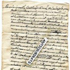 Manuscritos antiguos: PAGINA SUELTA MANUSCRITO EN LATIN DEL SIGLO XIX. Lote 42872998