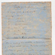 Manuscritos antiguos: ANTIGUA RECETA PARA LOS ABORTOS MEDICINA SIGLO XIX. Lote 42991990