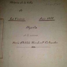 Manuscritos antiguos: HIJUELA DE CLOTILDE WANDOSELL CALVACHE LA UNION CARTAGENA MURCIA 1888. Lote 43155223
