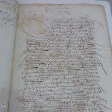 Manuscritos antiguos: MANUSCRITOS ORIGINALES DE 1532- LEGAJO - CARTA DE DOTE - MEDINA DE RIOSECO ( VALLADOLID ) 5 FOLIOS. Lote 43268727