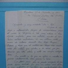 Manuscritos antiguos: CARTA MANUSCRITA - 1953 - LLIVIA - . Lote 43331581