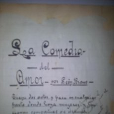 Manuscritos antiguos: MANUSCRITOS DEL DRAMATURGO POETA Y ACTOR BERNARDINO JAMBRINA, 6 CUADERNOS. Lote 43337937