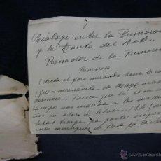 Manuscritos antiguos: ORIGINAL DIÁLOGO ENTRE LA PRIMOROSA Y LA TONTA PILAR MILLAN ASTRAY ABC 1934 MANUSCRITO SAINETE. Lote 43541968