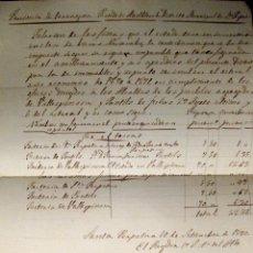 Manuscritos antiguos: SANTA PERPETUA. MONTBLANC (TARRAGONA). ALCALDÍA. IMPUESTOS. MANUSCRITO. 1840. Lote 43614877