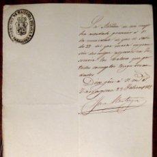 Manuscritos antiguos: TARRAGONA. HACIENDA PÚBLICA. APREMIO. MANUSCRITO. 1869. Lote 43614964