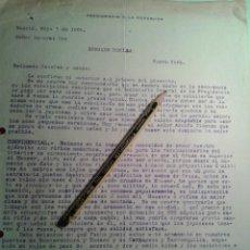 Manuscritos antiguos: CARTA PRESIDENTE COLOMBIA RAFAEL REYES PRIETO.COMPRA REVOLVER GUARDIA PRESIDENCIAL Y ARMAS EJERCITO. Lote 43743525