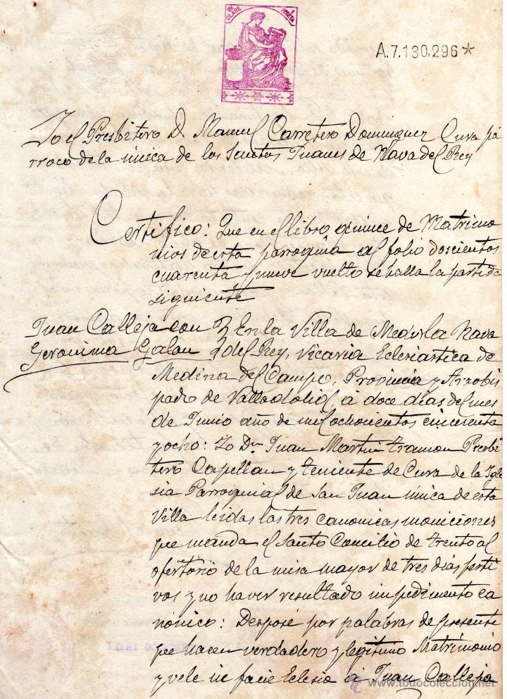 Certificado De Matrimonio Catolico : Certificado de matrimonio parroquia santos jua comprar