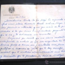 Manuscritos antiguos: CARTA DE LUTO MANUSCRITA. DELEGADO DE HACIENDA. MADRID 1944. .. Lote 44273435