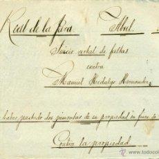 Manuscritos antiguos: *** INTERESANTE MANUSCRITO 1902 JUICIO Y MULTA POR PASTAR PIMENTAS EN TIERRAS DE UN SEÑORITO. ***. Lote 44350335