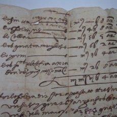 Manuscritos antiguos: ANTIGUO MANUSCRITO EN PAPEL.. Lote 44386141