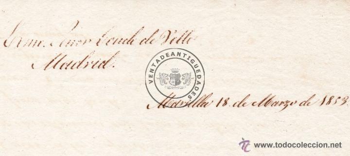 Manuscritos antiguos: JUAN DE PRAT ZEA BERMUDEZ - CARTA ENVIADA AL CONDE DE VELLE EN 1853 - Foto 2 - 44457595