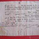 Manuscritos antiguos: GRANADA.-CONVENTO DE NUESTRO SEÑOR PADRE SAN FRANCISCO.-CAPUCHINOS DE GRANADA.-SELLO.-AÑO 1826.. Lote 44457825