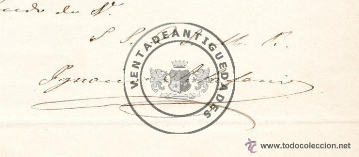 49316e59f2e7 Manuscritos antiguos  IGNACIO ALVAREZ DE TOLEDO Y PALAFOX - CONDE DE  SCLAFANI - CARTA AUTOGRAFO