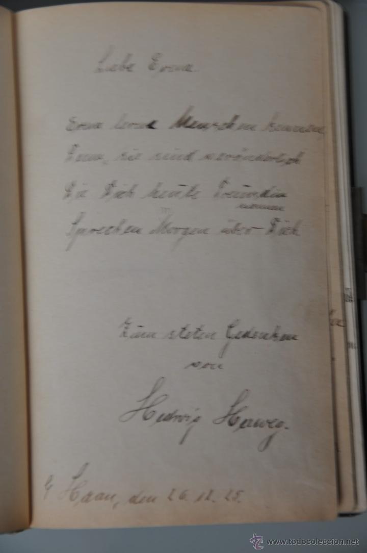 Manuscritos antiguos: antigua libreta con poesias manuscritas en alemán , alemania año 1925 y 1926 , - Foto 3 - 44931767