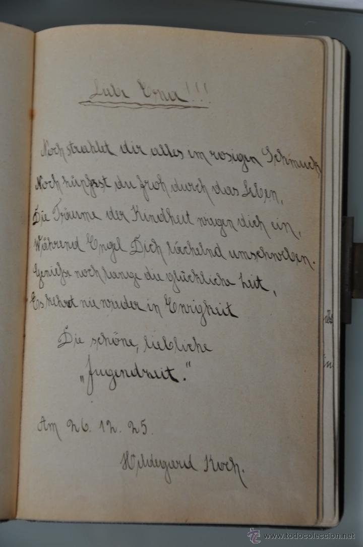 Manuscritos antiguos: antigua libreta con poesias manuscritas en alemán , alemania año 1925 y 1926 , - Foto 5 - 44931767