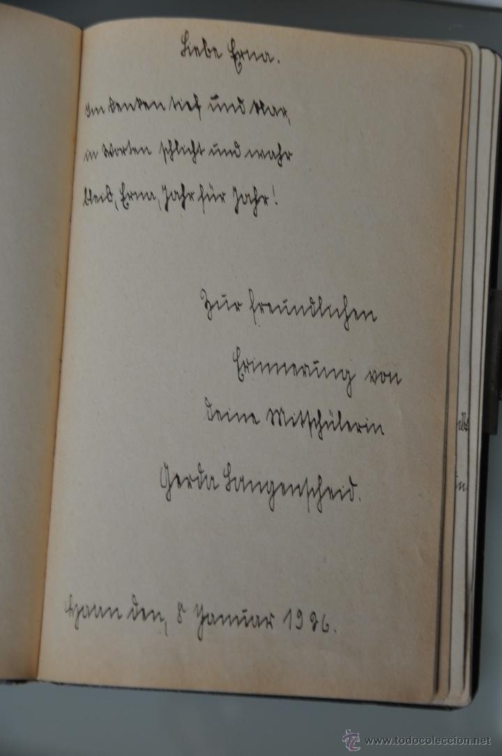 Manuscritos antiguos: antigua libreta con poesias manuscritas en alemán , alemania año 1925 y 1926 , - Foto 6 - 44931767