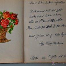 Manuscritos antiguos: ANTIGUA LIBRETA CON POESIAS MANUSCRITAS EN ALEMÁN , ALEMANIA AÑO 1951 Y 1952 Y CROMOS. Lote 44931789