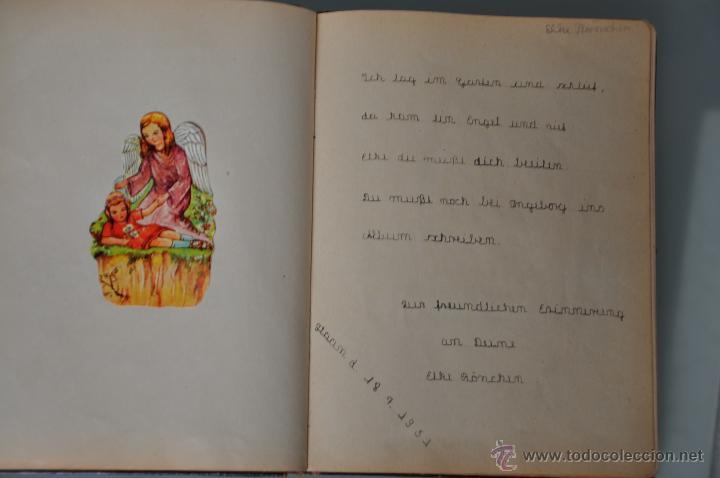 Manuscritos antiguos: antigua libreta con poesias manuscritas en alemán , alemania año 1951 y 1952 y cromos - Foto 2 - 44931789