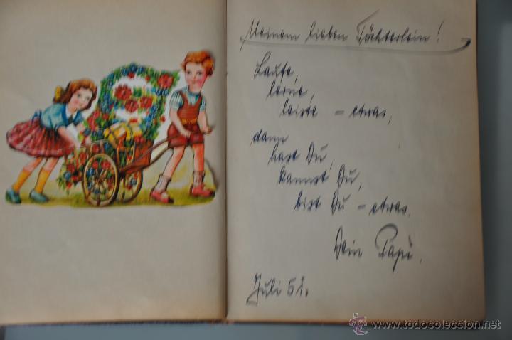 Manuscritos antiguos: antigua libreta con poesias manuscritas en alemán , alemania año 1951 y 1952 y cromos - Foto 4 - 44931789