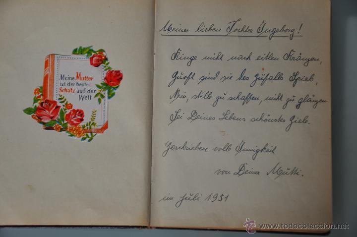 Manuscritos antiguos: antigua libreta con poesias manuscritas en alemán , alemania año 1951 y 1952 y cromos - Foto 5 - 44931789