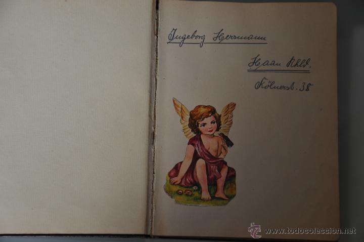Manuscritos antiguos: antigua libreta con poesias manuscritas en alemán , alemania año 1951 y 1952 y cromos - Foto 6 - 44931789
