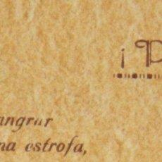 Manuscritos antiguos: TARJETA CARTA MANUSCRITA FIRMADA POETISA ESCRITORA POEMA MALUMA MA.LU.MA. 1942. Lote 45184957