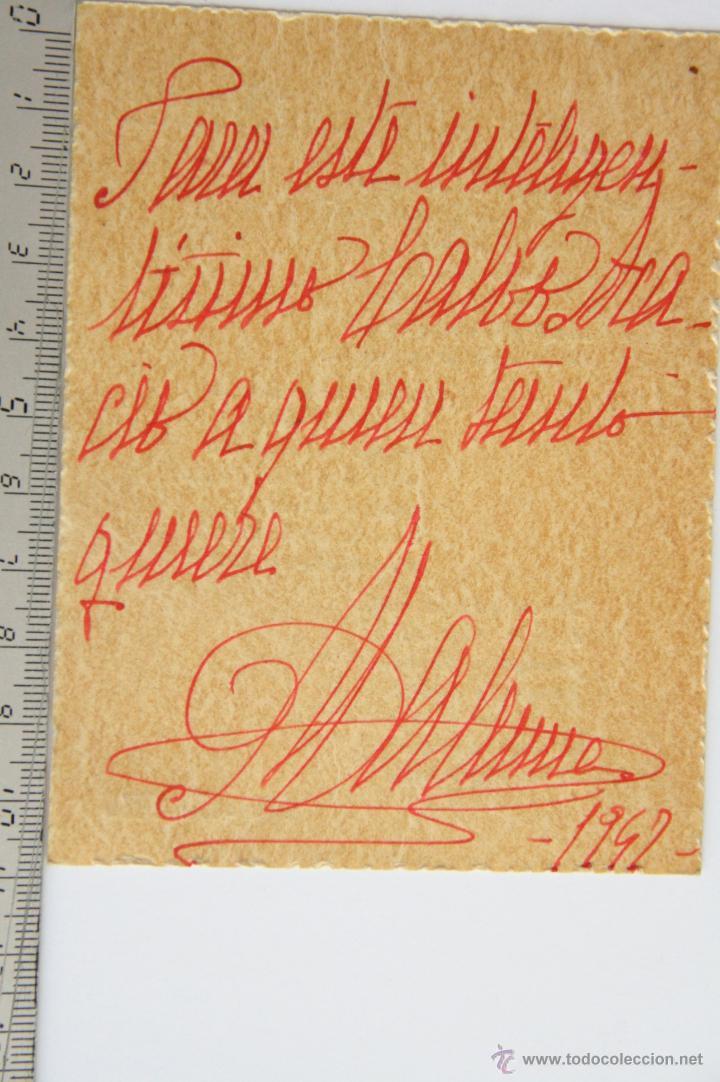 Manuscritos antiguos: TARJETA CARTA MANUSCRITA FIRMADA POETISA escritora POEMA MALUMA MA.LU.MA. 1942 - Foto 2 - 45184957