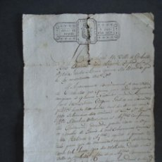 Manuscritos antiguos: GALICIA.CORUÑA.CARBALLO. MILICIA NACIONAL.TITULO DE SUBTENIENTE. 1839.. Lote 45217144