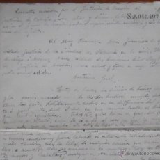Manuscritos antiguos: BORRADOR CONSULTA POR JUSTICIA DE ARAGON AL JUSTICIA DE VALENCIA, DERECHO FORAL, S XIX, 3PAG. Lote 45390118