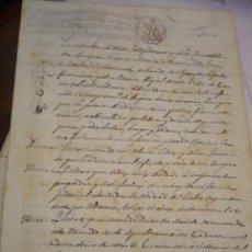 Manuscritos antiguos: TESTAMENTO MANUSCRITO , VILLA DE GARCIA (TARRAGONA) . 1864.. Lote 45459768