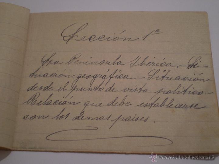 Manuscritos antiguos: ANTIGUO PROGRAMA ESCOLAR MANUSCRITO.GEOGRAFIA,4º CURSO. AÑOS 20,30 - Foto 2 - 45473567