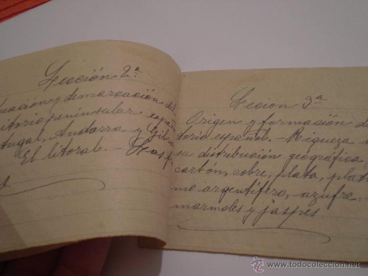 Manuscritos antiguos: ANTIGUO PROGRAMA ESCOLAR MANUSCRITO.GEOGRAFIA,4º CURSO. AÑOS 20,30 - Foto 3 - 45473567