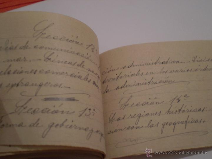 Manuscritos antiguos: ANTIGUO PROGRAMA ESCOLAR MANUSCRITO.GEOGRAFIA,4º CURSO. AÑOS 20,30 - Foto 4 - 45473567