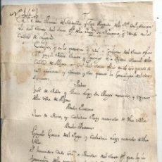 Manuscritos antiguos: LOGROÑO LA RIOJA NAVARRA SIGLO XVIII - INQUISICIÓN - EXPEDIENTE INQUISITORIAL (13 DOCUMENTOS). Lote 45491734