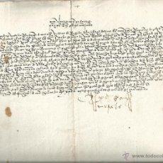 Manuscritos antiguos: MANUSCRITO 1495 - CARTA DEL REGIDOR DE SORIA RODRIGO MORALES A LOS REYES CATÓLICOS. Lote 45549317