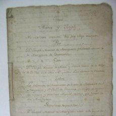 Manuscritos antiguos: MANUSCRITO Nº 2 SENTENCIA A FAVOR DE JOSE ANTONIO ARANGUREN,XABIER DE NOBIA Y SALCEDO,1767,REF ROB. Lote 45681123